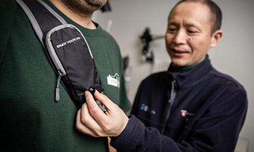 کاهش خطر برخورد در نابینایان با ابزار پوشیدنی