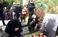 خاکسپاری بیژن افشار در قطعه هنرمندان